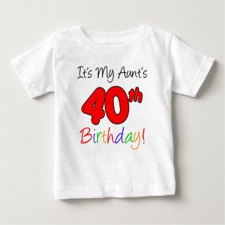 My Aunt's 40th Birthday Baby T-Shirt