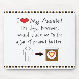 My Aussie Loves Peanut Butter Mousepad