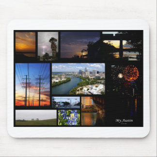 My Austin Collage by James R Granberry Mouse Pad