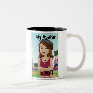 My Avatar is HOT! Two-Tone Coffee Mug
