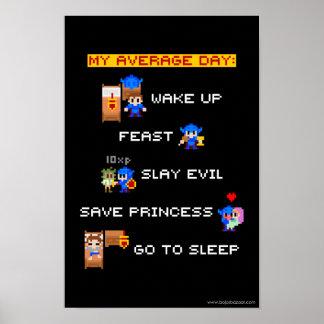 My Average Day (8-bit RPG) Poster
