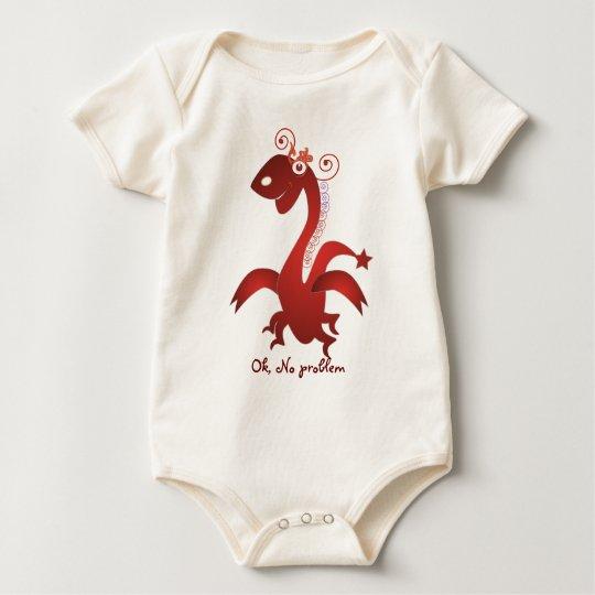 My baby :: Animal T-shirts: Red Dragon Baby Bodysuit