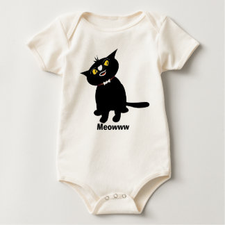 My baby cute animal t-shirts: Cats : Meowww Baby Bodysuit