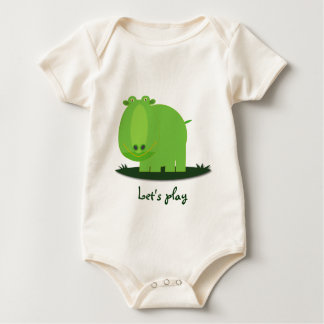 My baby: Green Hippo :: Let's Play Baby Bodysuit