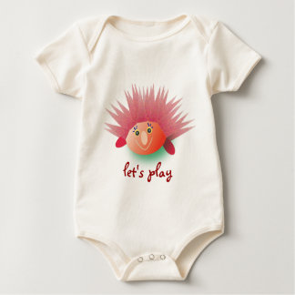 My baby: Red Porcupine : Let's play Baby Bodysuit