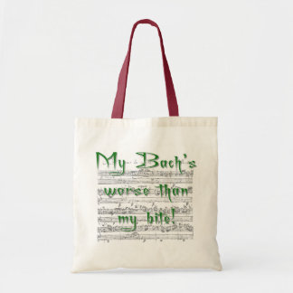 My Bach's Worse than my Bite Tote Bag