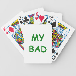 My Bad Bicycle Playing Cards