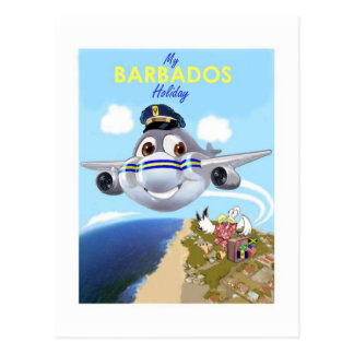 my barbados holiday postcard