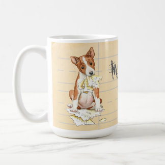 My Basenji Ate My Homework Coffee Mug