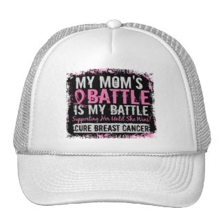 My Battle Too 2 Breast Cancer Mom Trucker Hat