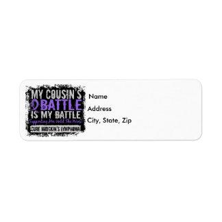 My Battle Too 2 Cousin Female Hodgkins Lymphoma Return Address Label