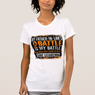 My Battle Too 2 Leukemia Father-In-Law Tshirt