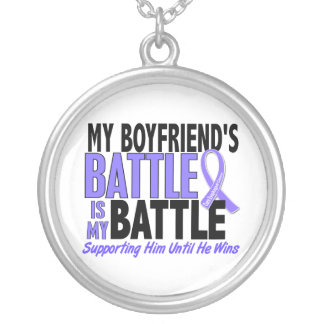 My Battle Too Boyfriend Esophageal Cancer Silver Plated Necklace