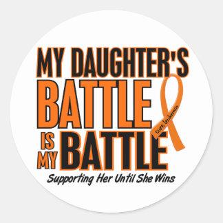 My Battle Too Daughter Leukemia Round Sticker