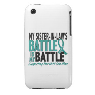 My Battle Too Sister-In-Law Ovarian Cancer Case-Mate iPhone 3 Cases