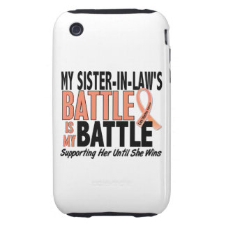 My Battle Too Sister-In-Law Uterine Cancer Tough iPhone 3 Covers