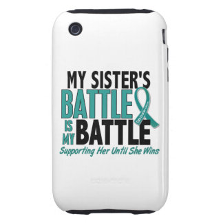 My Battle Too Sister Ovarian Cancer Tough iPhone 3 Covers