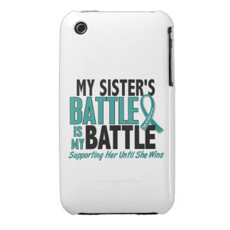 My Battle Too Sister Ovarian Cancer iPhone 3 Case-Mate Cases
