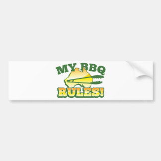 My BBQ RULES! barbecue Australian design Bumper Sticker