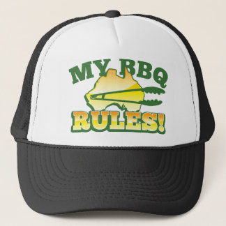My BBQ RULES! barbecue Australian design Trucker Hat