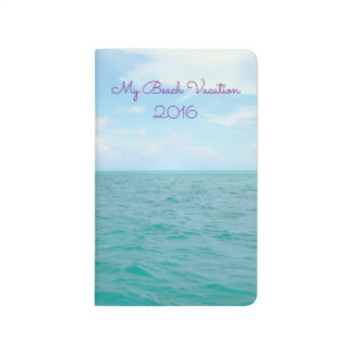 """MY BEACH VACATION""(CUSTOMIZABLE)POCKET JOURNAL"