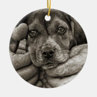 My Beagle Buddy Antique Style Photographic Art Ceramic Ornament