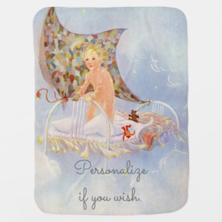 My Bed is a Boat - Vintage picture by Eulalie Baby Blanket