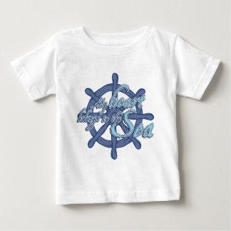 my belongs ton the sea fount ton heart sail baby T-Shirt