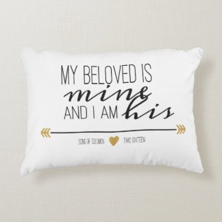 My Beloved is Mine, Scripture Accent Pillow