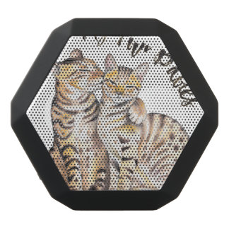 My Bengal Fur Babies Black Bluetooth Speaker