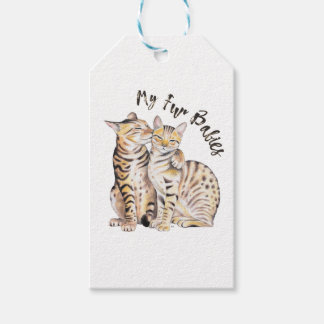 My Bengal Fur Babies Gift Tags