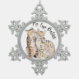 My Bengal Fur Babies Snowflake Pewter Christmas Ornament