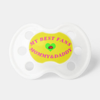 My Best Fans Heart Lady Bug 0-6months  Pacifier
