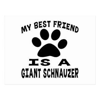 My Best Friend Is A Giant Schnauzer Postcard