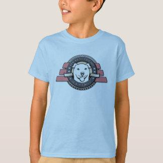 My Best Friend is a Pit Bull Emblem - Kid's Blue T-Shirt