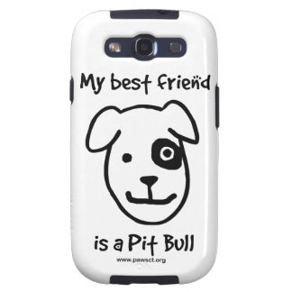 My best friend is a pitbull galaxy s3 covers