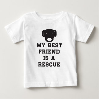 My best friend is a rescue (dog) baby T-Shirt