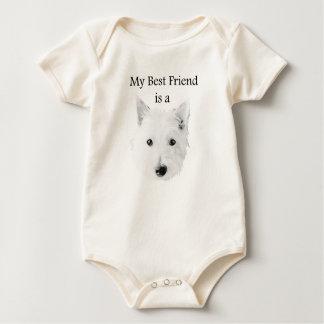 my best friend is a westie baby t-shirt