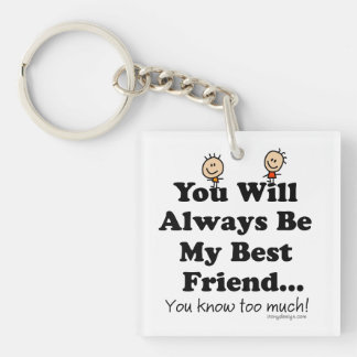 My Best Friend Keychain