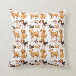 My Best Friend Pattern Throw Pillow