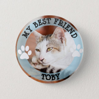 My Best Friend, Pawprints Cat Photo Button