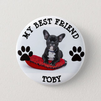 My Best Friend, Pawprints Dog Pet  Photo Button