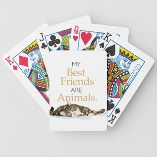 My best friends are animals cat watercolor bicycle playing cards