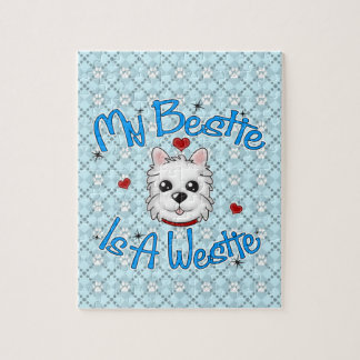 """My Bestie Is A Westie"" BOY Puzzle"