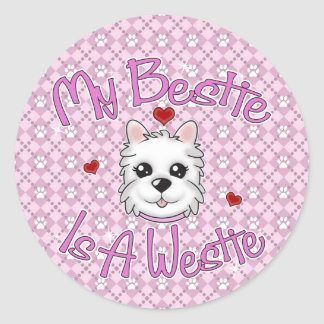 """My Bestie Is A Westie"" GIRL Stickers"