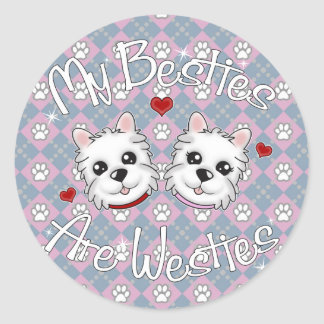 """My Besties Are Westies"" BOY AND GIRL Stickers"