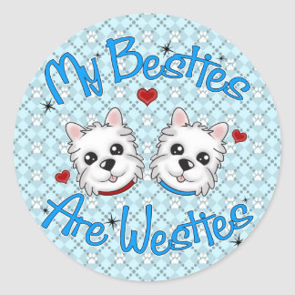 """My Besties Are Westies"" BOYS Stickers"
