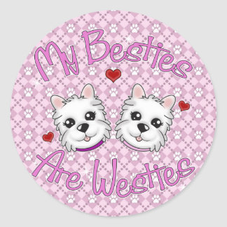 """My Besties Are Westies"" GIRLS Stickers"