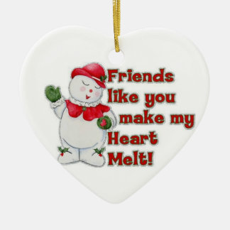 "MY BFF AT CHRISTMAS ""DECORATION"" U MELT MY HEART CERAMIC ORNAMENT"