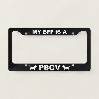 My BFF is a PBGV - Custom License Plate Frame